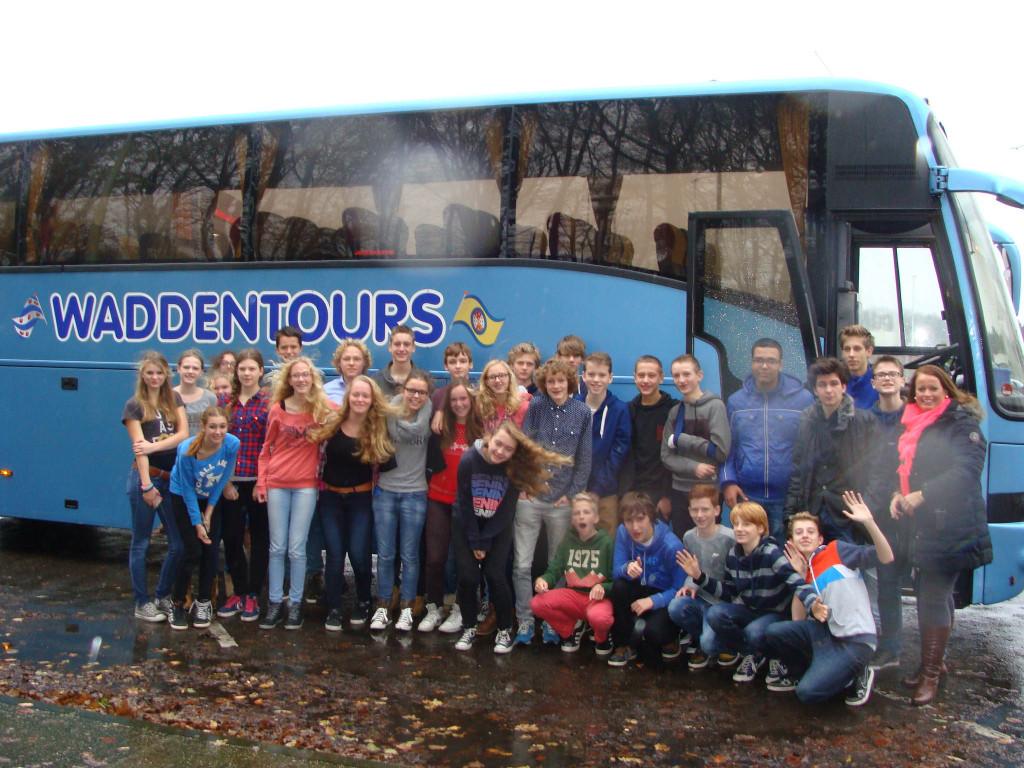Groepsfoto bus Waddentours